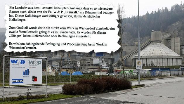 Gab es Schwarzhandel mit dem HCB-verseuchten Blaukalk aus dem Zementwerk? (Bild: Krone, APA/GERT EGGENBERGER)