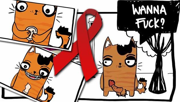 Gar nicht jugendfrei: Der Safer-Sex-Spot der Österreichischen AIDS-Hilfen. (Bild: Österreichische AIDS-Hilfen)