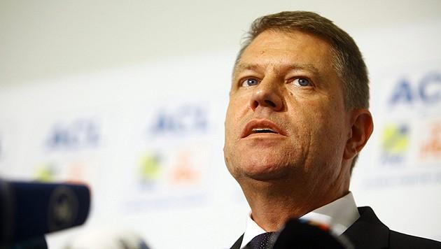Präsident Klaus Johannis (Bild: APA/EPA/MIHAI BARBU)