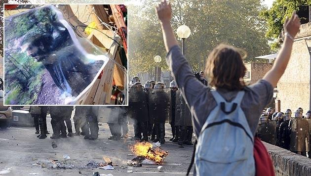 Die Proteste gegen den Staudamm gingen in Wut über den Tod von Remi Fraisse (kl. Bild) über.