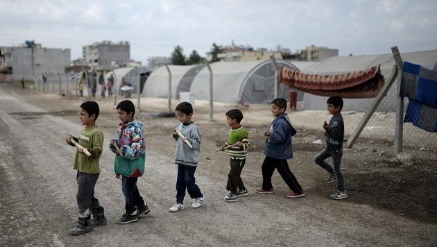 Flüchtlingskinder aus Kobane