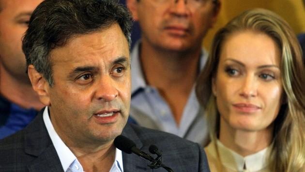 Rousseffs Herausforderer Aecio Neves musste sich geschlagen geben.