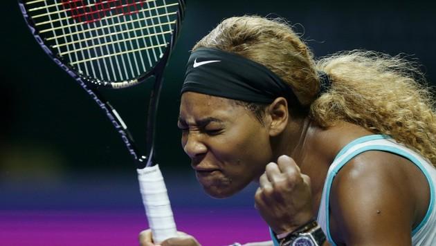 """""""Sehr peinlich"""" fand Serena Williams ihre Leistung gegen Simona Halep."""