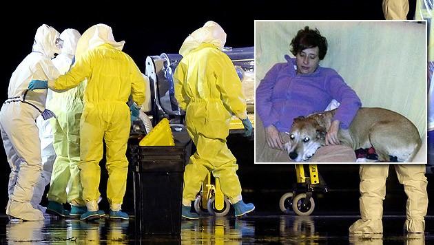 """Streit auch um """"Excalibur"""": Die Behörden ordneten an, den Hund der Krankenschwester einzuschläfern."""