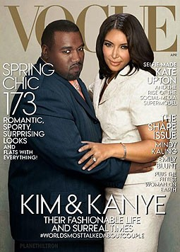Kanye West und Kim am Cover der Vogue