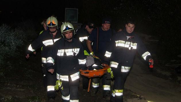 Die Verletzte wurde nach der Erstversorgung ins Spital gebracht.