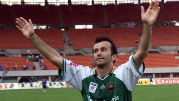 So jubelte Dejan Savicevic früher im Rapid-Dress im Happel-Stadion, Sonntag kommt er wieder (Bild: APA/Pfarrhofer Herbert/RS)