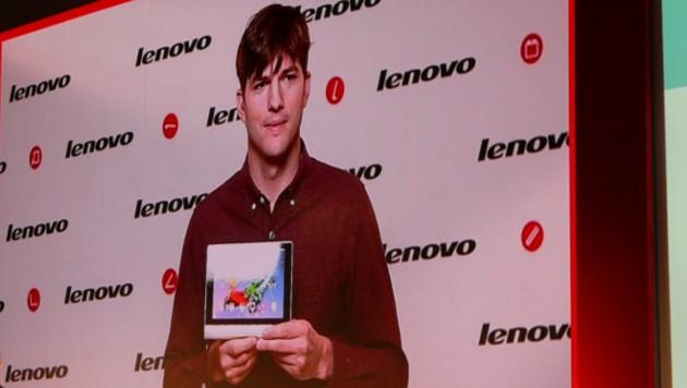 Kutcher arbeitet seit einem Jahr im Nebenberuf als Produktentwickler beim PC-Marktführer Lenovo.