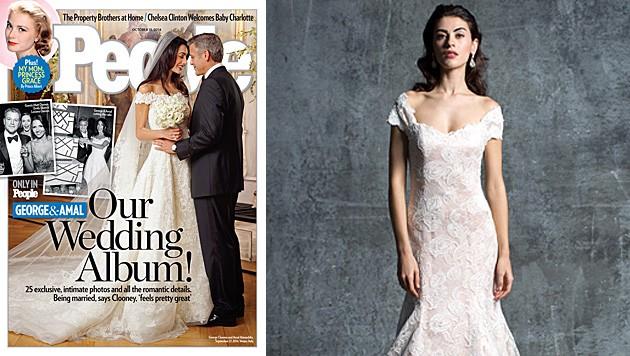 Original und Kopie: Das Brautkleid von Amal Alamuddin