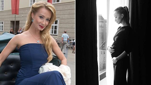 Auf Facebook zeigte Karina Sarkissova ihren Babybauch.