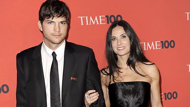 Sechs Jahre lang hielt die Liebe von Ashton Kutcher und Demi Moore. (Bild: JUSTIN LANE/EPA/picturedesk.com)