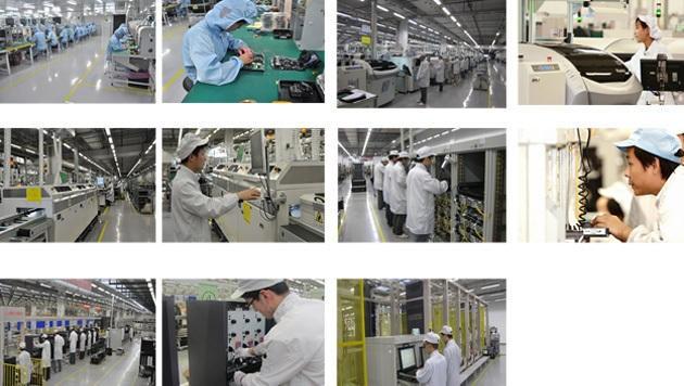 Fotos zu machen, ist in der Mega-Fabrik verboten. Diese Bilder stammen direkt von Huawei.
