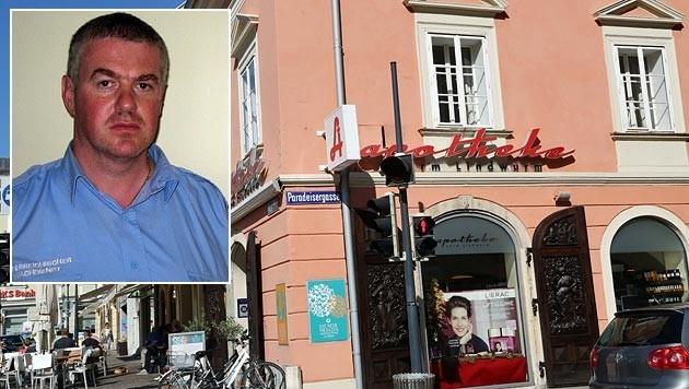 Alarmfahrer Erich Mietler schnappte vor der Apotheke in Klagenfurt seinen 27. Verbrecher.