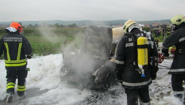 Munition am Beifahrersitz hatte zu brennen begonnen.