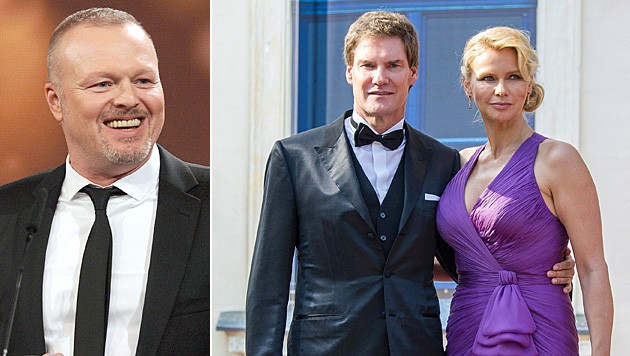 Stefan Raab zog Carsten Maschmeyer und Veronica Ferres durch den Kakao. (Bild: EPA, Tobias Hase/EPA/picturedesk.com)