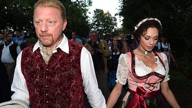 Boris Becker mit Ehefrau Lilly am Münchner Oktoberfest.