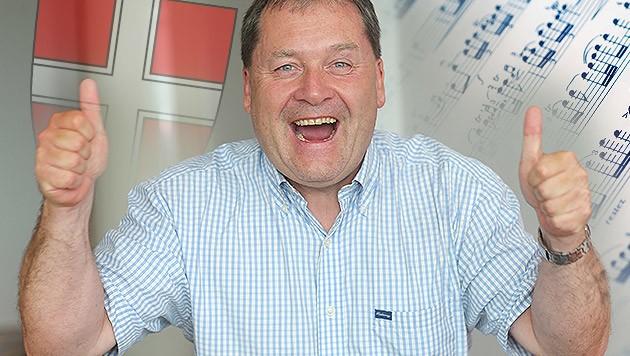 Martin Krämer komponierte die Siegerhymne - und gewinnt 5.000 Euro! (Bild: Peter Tomschi, thinkstockphotos.de, krone.at-Grafik)