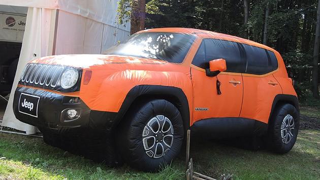 Jeep Renegade - eigentlich gar nicht so aufgeblasen, sondern klein und kompakt. (Bild: Stephan Schätzl)