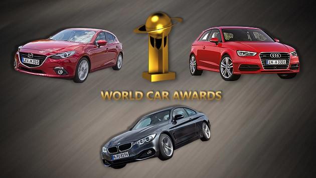 (Bild: BMW, Mazda, Audi, World Car Awards, krone.at-Grafik)
