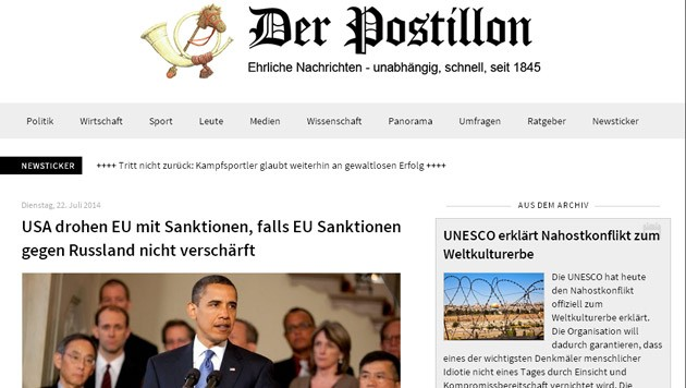 (Bild: Screenshot: der-postillon.com)