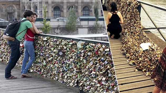 Liebesschlosser Zu Schwer Fur Pariser Brucke Krone At