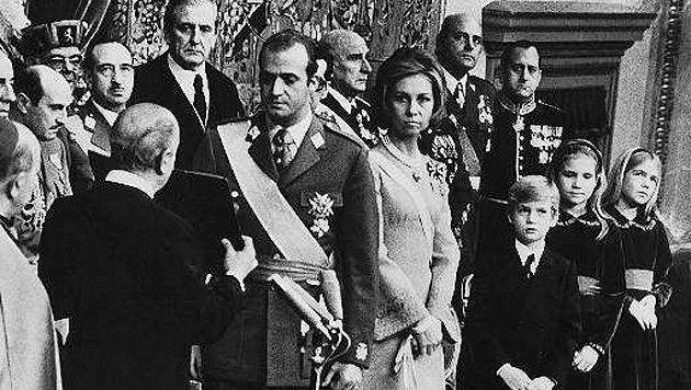 Mit Königin Sofia bei der Krönung 1975