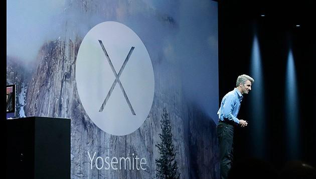Apple hat sein neues Betriebssystem Yosemite vorgestellt (Bild: AP)