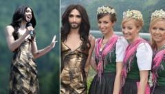Conchita Wurst und die Narzissenhoheiten (Bild: APA/BARBARA GINDL)