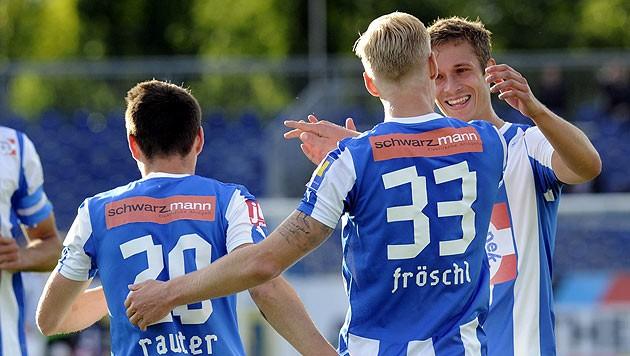 Thomas Fröschl erzielte in der letzten Partie der heurigen BL-Saison drei Tore gegen die Admira. (Bild: APA/HERBERT PFARRHOFER)