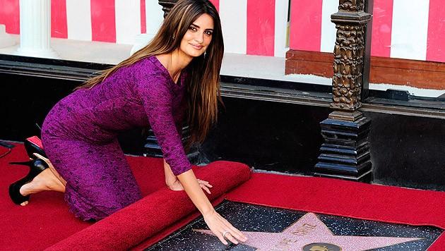 2011 bekam Penelope Cruz einen Stern auf dem Walk of Fame in Hollywood.