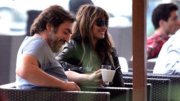 Penelope Cruz und Ehemann Javier Bardem bei Dreharbeiten in Bosnien.