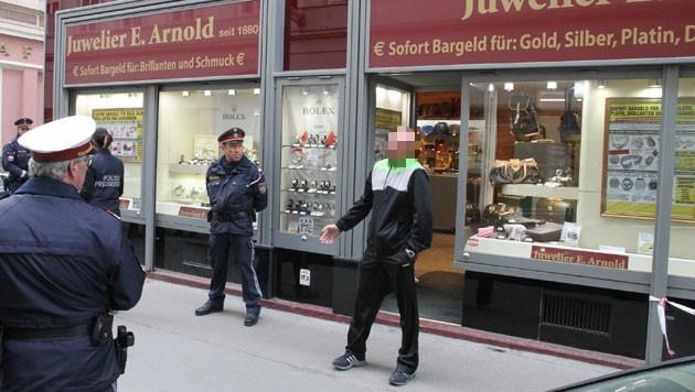 Raubüberfall auf den Juwelier Arnold in Wien (Bild: Andi Schiel)