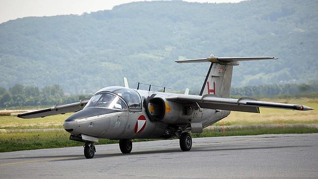 Die Saab 105 OE wird demnächst ausgemustert. (Bild: Peter Tomschi)