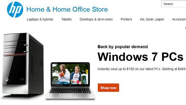 (Bild: Screenshot, shopping.hp.com)