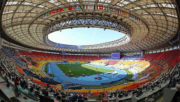 Russlands Stadien sind von der WM 2018 her noch in perfektem Zustand, hier etwa das Luschniki-Stadion zu Moskau. (Bild: EPA)